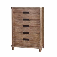 Madeleine 6-Drawer Smoky Acacia Chest With Cedar And Felt Liner