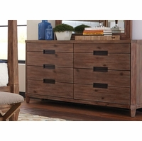 Madeleine 8-Drawer Smoky Acacia Dresser With Cedar And Felt Liner