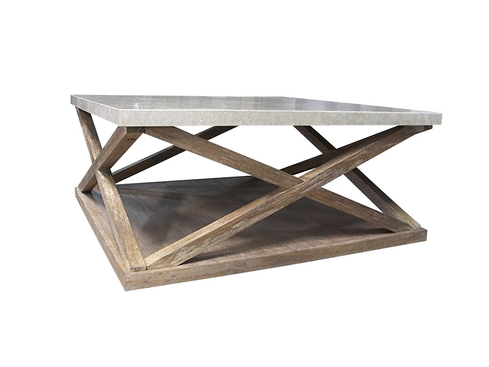 Madison natural traditional square cocktail table for Square cocktail table