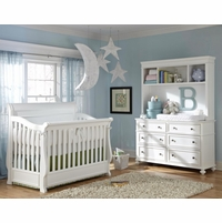 Madison Nursery Grow with Me 4-Stage Convertible Crib in White Painted Finish