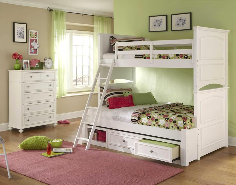 madison natural white painted twin over full bunk bed. Black Bedroom Furniture Sets. Home Design Ideas