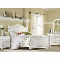 Madison Youth Natural White Painted Low Post Queen Bed