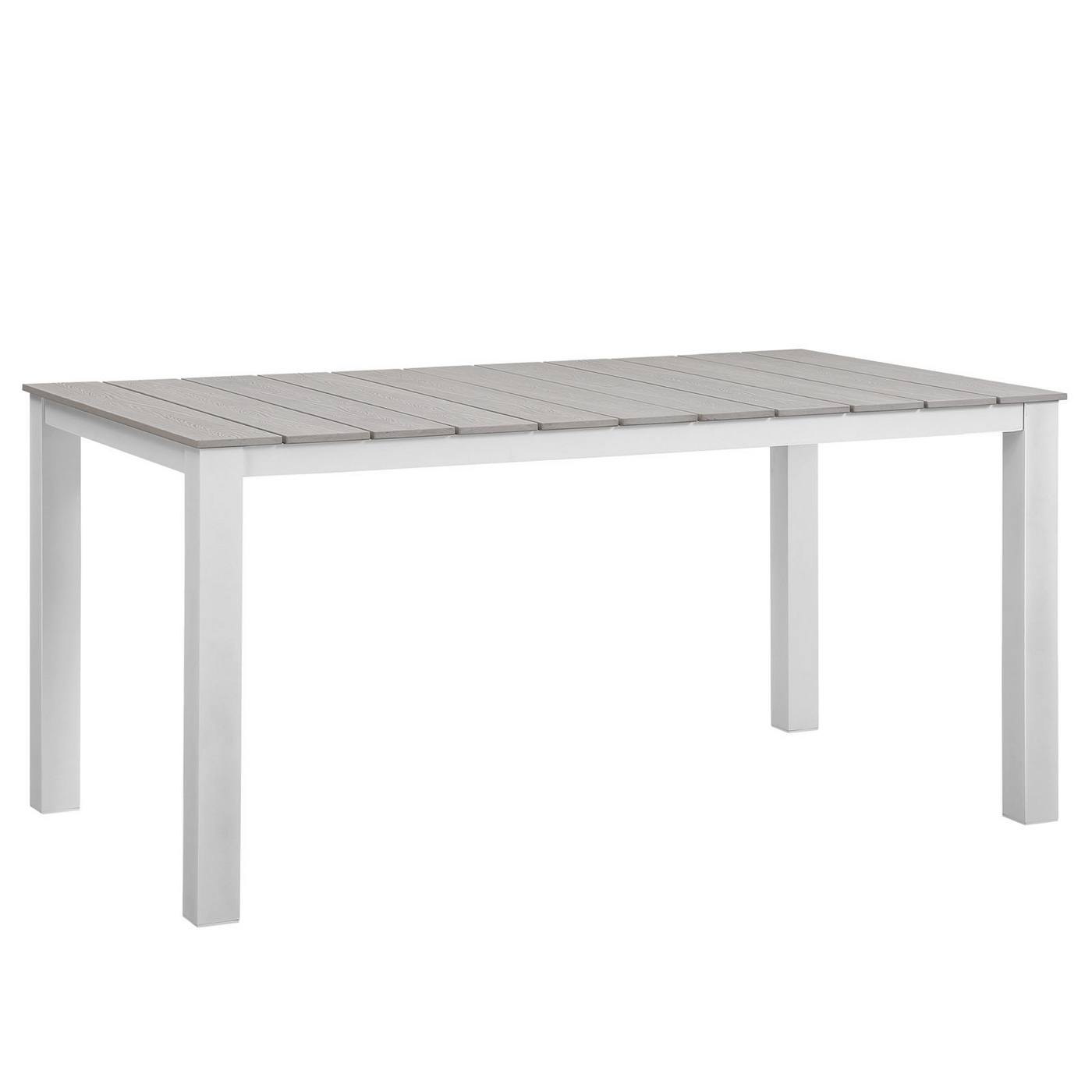 Maine 63 plank style outdoor patio dining table w for White patio table