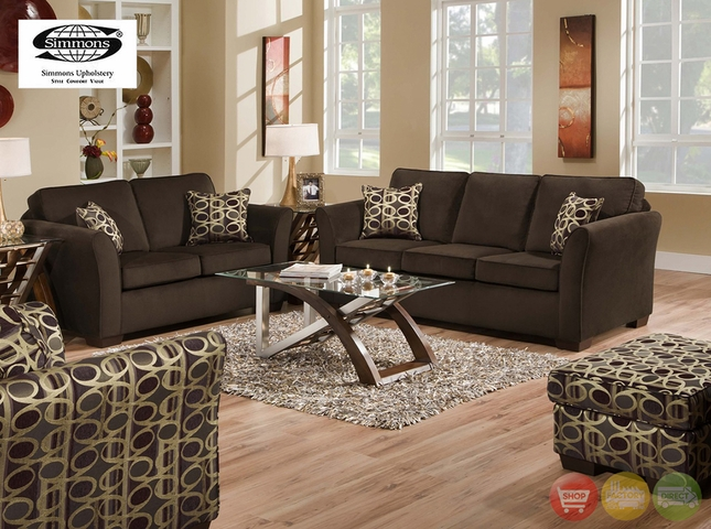 Malibu Beluga Sofa And Love Seat Living Room Furniture Set