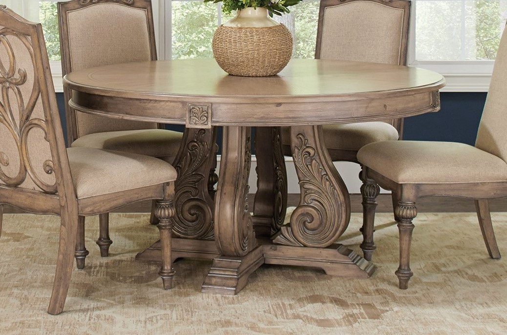 Malvern 5 Pc Traditional 60 Quot Round Dining Table Set