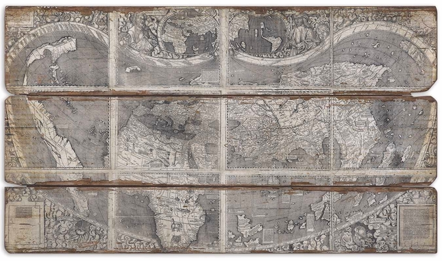 Map of The City Frameless Art 32524