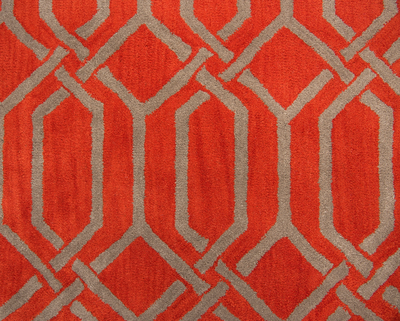 Marianna Fields Modest Trellis Wool Area Rug In Red Amp Gray