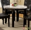 Marion IV Espresso Casual Dining Set with Leatherette Parson Chair