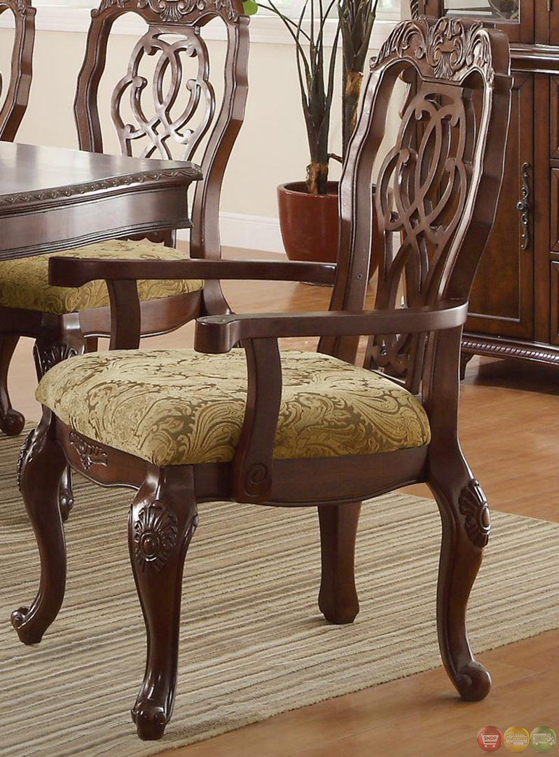 Marisol cherry finish formal dining room table set for Cherry dining room table