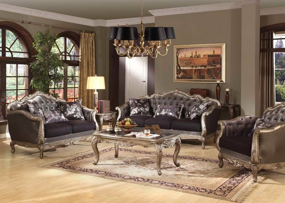 Chantelle French Rococo Formal Living Room Set Carved Wood ...
