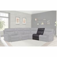 Mason Charcoal Contemporary Modular Armless Recliner in Charcoal Finish