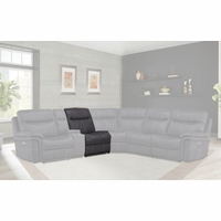 Mason Charcoal Modular Contemporary Armless Chair in Charcoal Finish