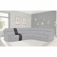 Mason Charcoal Modular Contemporary Straight Console in Charcoal Finish