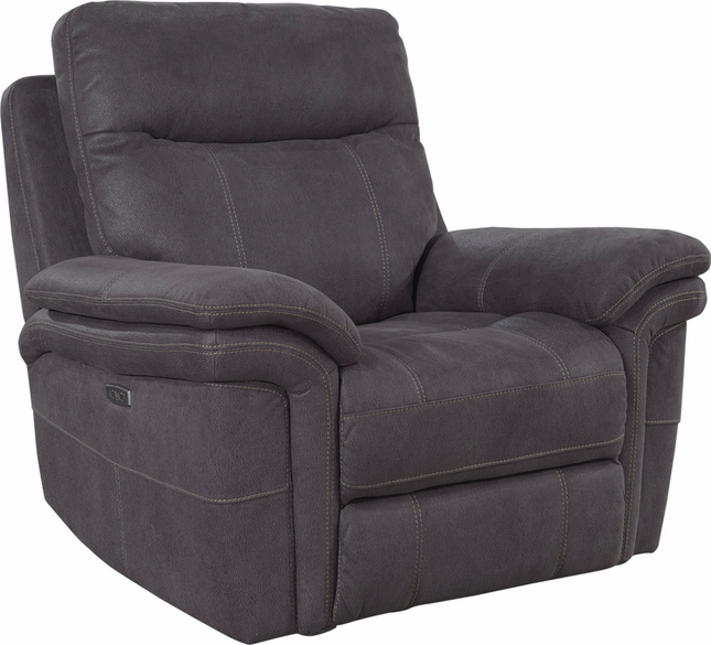 Mason Charcoal Power Recliner With Power Headrest And Usb