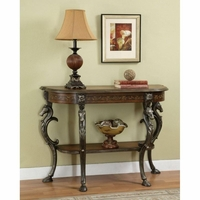 Masterpiece Floral Console Table Horse Head Display