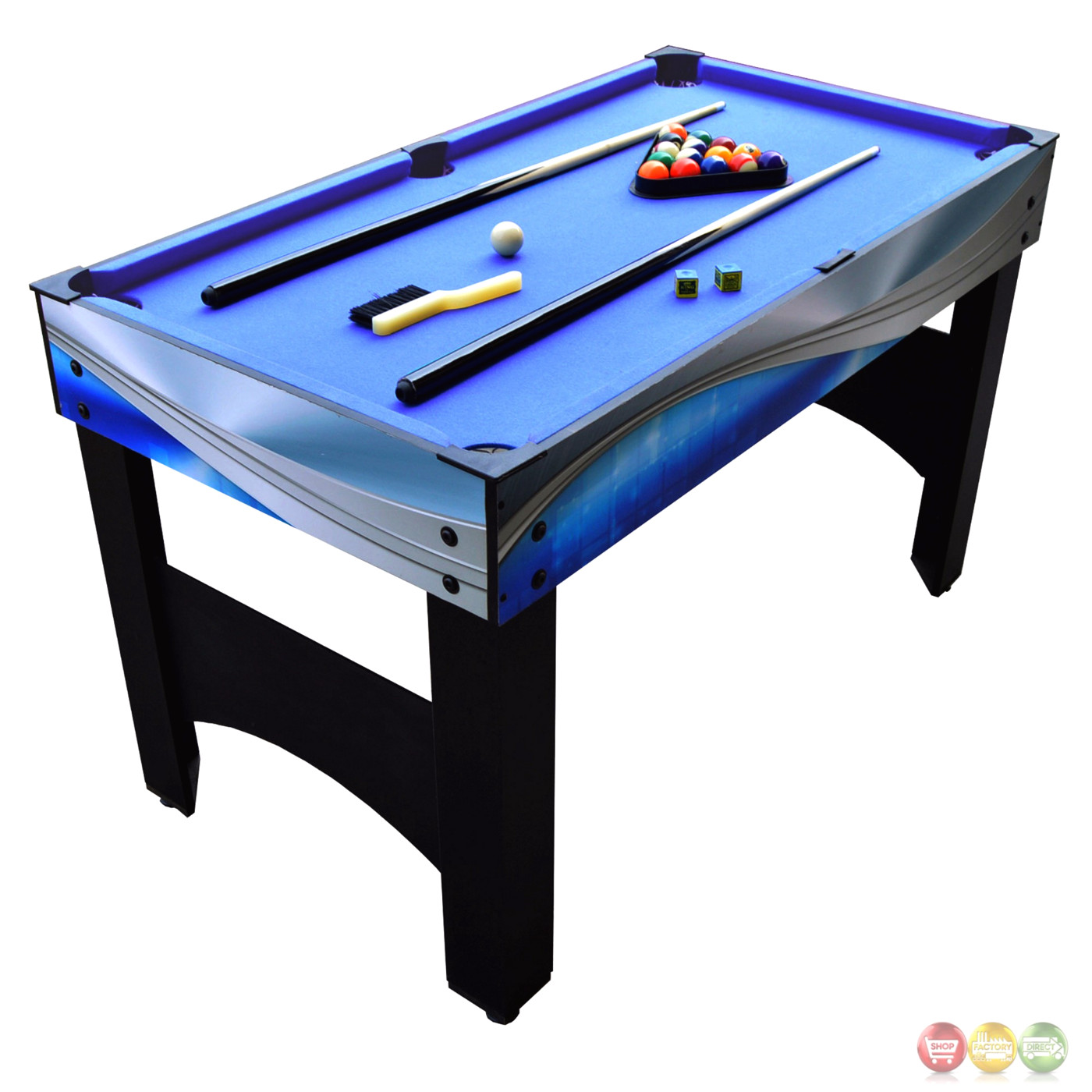 Matrix 54 blue silver 7 in 1 multi game table for 10 in one games table