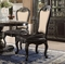 Set Of 2, Matteo Gothic Style Vinyl Leather Side Chairs In Ebony Finish