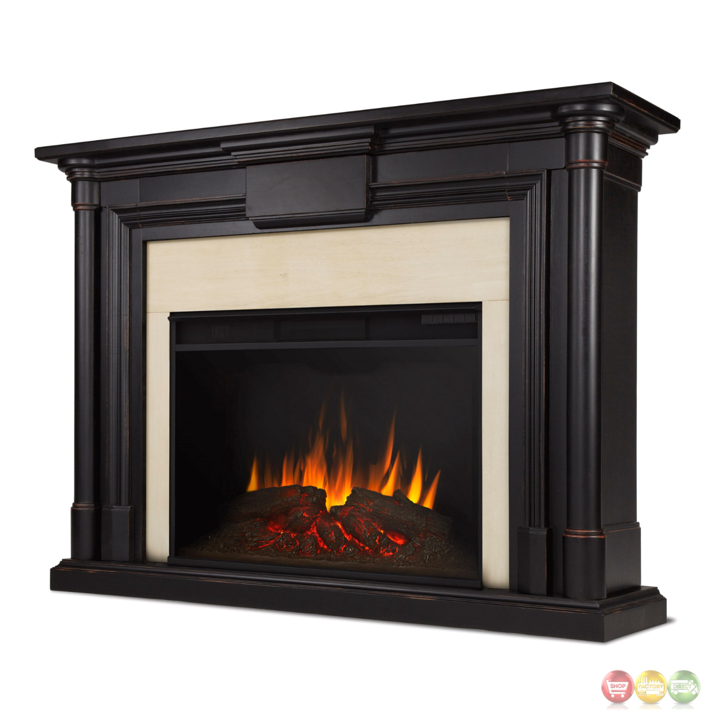 Maxwell Grand Vivid Led Electric Fireplace In Black