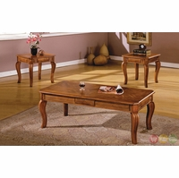 Maywood Transitional Antique Oak Accent Tables Set