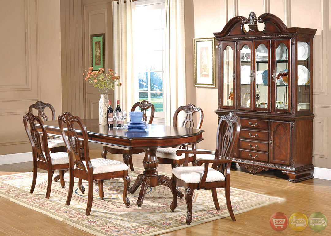 Melanie Traditional Medium Wood Formal Dining Set With