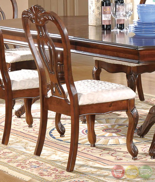 Dining Set With Buffet: Melanie Traditional Medium Wood Formal Dining Set With