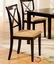 Melbourne Contemporary Espresso 5pc Casual Dining Set Microfiber Seats