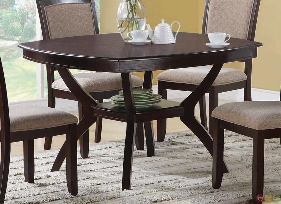 Memphis cappuccino 5 piece casual dining room set for Dining room sets for 6