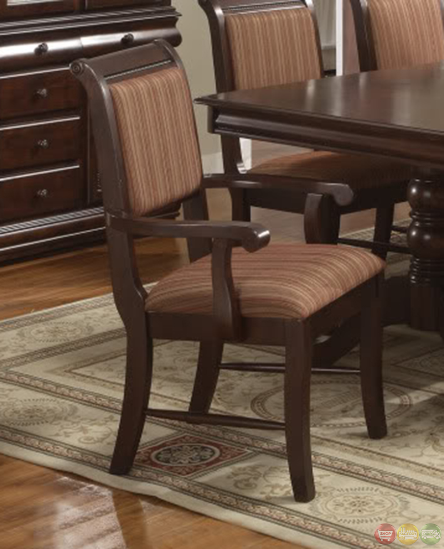 Merlot traditional double pedestal formal dining set for Formal dining table and chairs