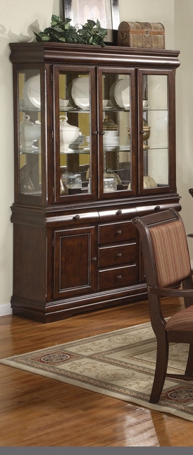Merlot Wooden China Cabinet Buffet And Hutch Formal Dining Storage & China Cabinet Buffet | Wood China Cabinet | Shop Factory Direct