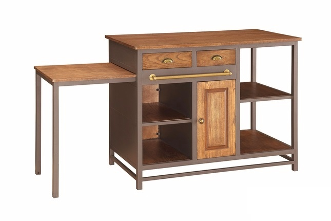 And wood 2 drawer kitchen island with pull out table metal and wood 2 drawer kitchen island with pull out table watchthetrailerfo