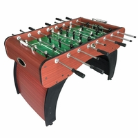 "Carmelli Metropolitan Silver 54"" Foosball Table in Cherry and Black Finish"