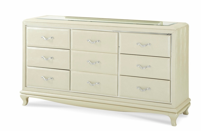 Michael Amini After Eight Pearl Croc Dresser by AICO