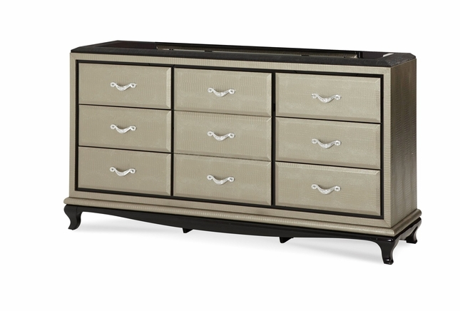 Michael Amini After Eight Titanium Dresser by AICO