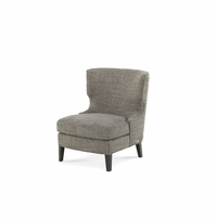 Michael Amini Beverly Blvd Black Lacquer Contemporary Wing Chair by AICO