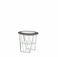Michael Amini Beverly Blvd Contemporary Round End Table by AICO