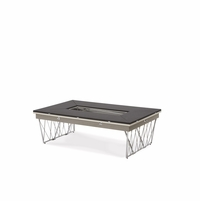 Michael Amini Beverly Blvd Rectangular Folding Cocktail Table by AICO