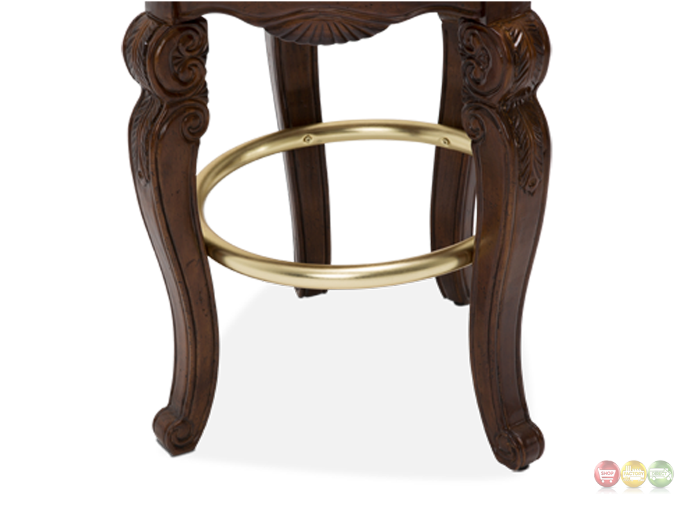 Michael Amini Tuscano Melange Traditional Swivel Barstool