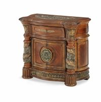 Michael Amini Villa Valencia Bedside Chest in Classic Chestnut Finish by AICO