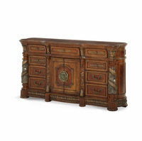 Michael Amini Villa Valencia Traditional Dresser in Classic Chestnut Finish by AICO