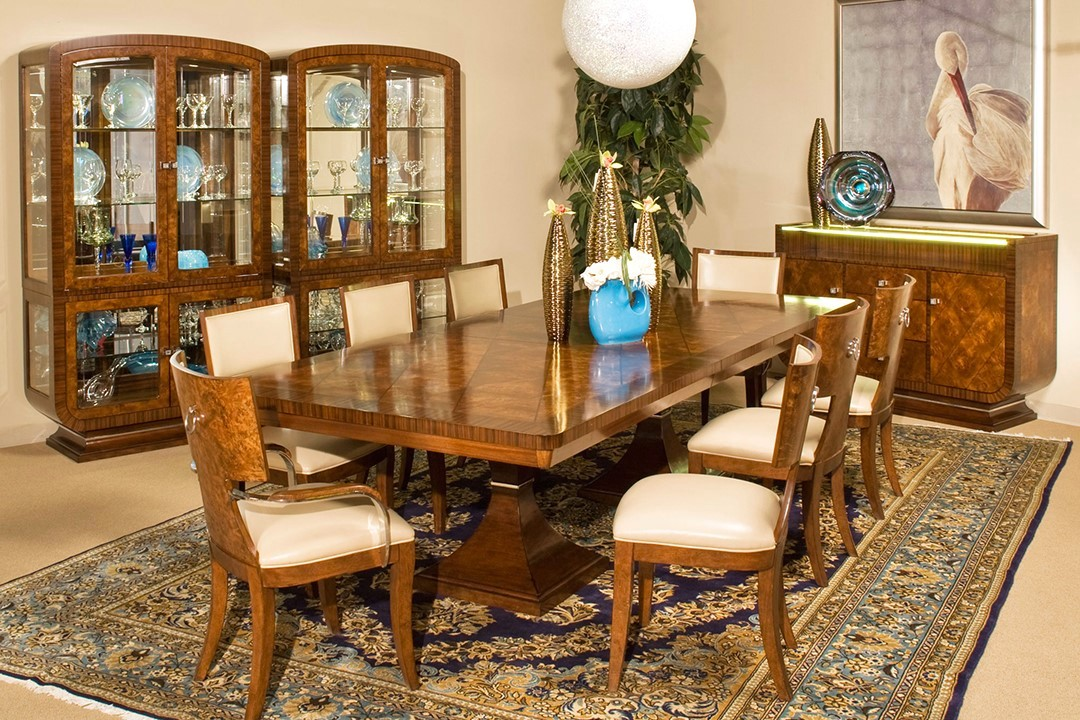 Michael Amini Cloche Traditional Rectangular Dining Set By