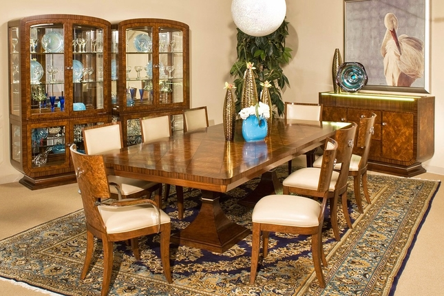 Michael Amini Cloche Traditional Rectangular Dining Set by AICO