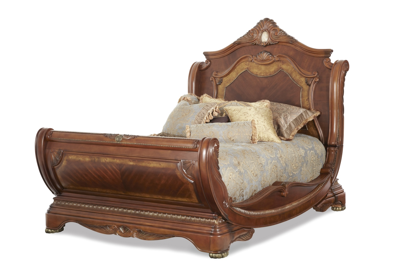 Michael Amini Cortina Traditional Queen Sleigh Bed By Aico