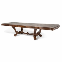 Michael Amini Diamond Pattern Tuscano Melange Rectangle Dining Table by AICO