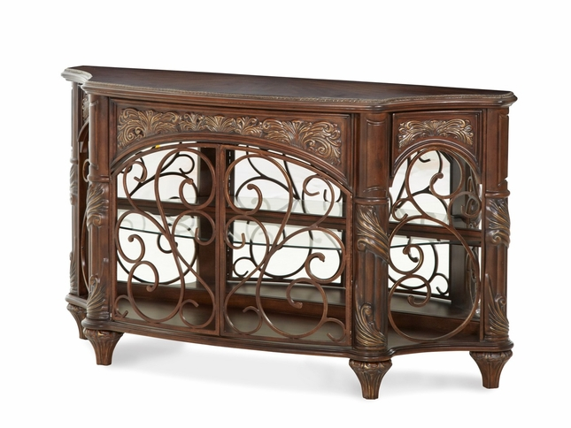 Superbe Michael Amini Essex Manor Traditional Deep English Tea Console Table By AICO