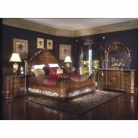 Michael Amini Excelsior Bedroom Furniture Fruitwood Finish by AICO