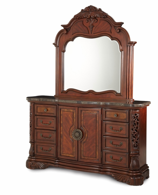 Michael Amini Excelsior Traditional Fruitwood Dresser by AICO