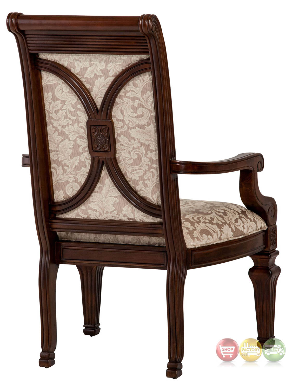 Michael Amini Villagio Set Of 2 Arm Chairs Fabric