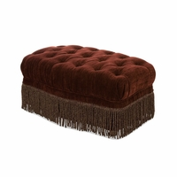 Michael Amini Imperial Court Eggplant Chestnut Tufted Chair Ottoman by AICO