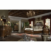 Michael Amini Imperial Court Radiant Chestnut Finish Bedroom Set by AICO