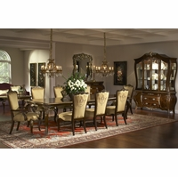 Michael Amini Imperial Court Radiant Chestnut Finish Dining Room Set by AICO